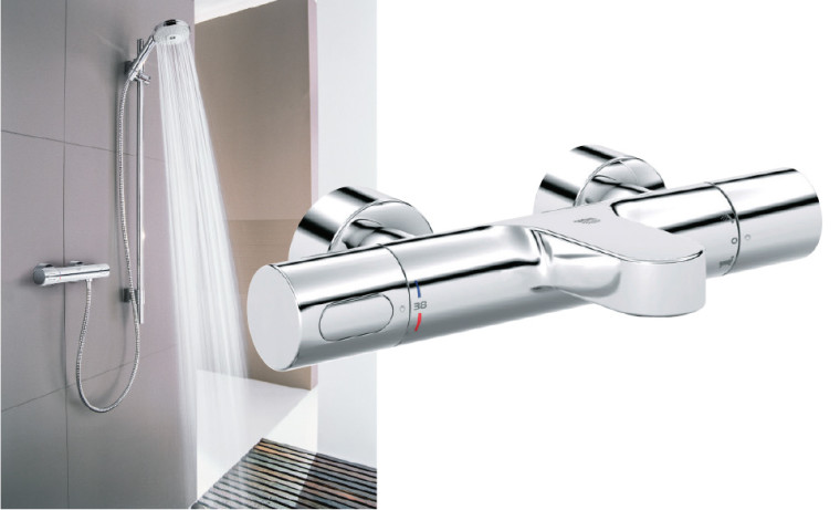 Colonne de douche avec mitigeur
